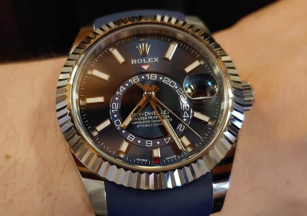 New Knock Off Rolex Sky-Dweller On Oysterflex Bracelet