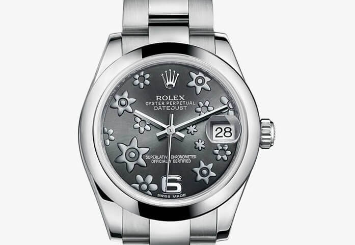 Replica Rolex Datejust 31 flowers Textured Dial